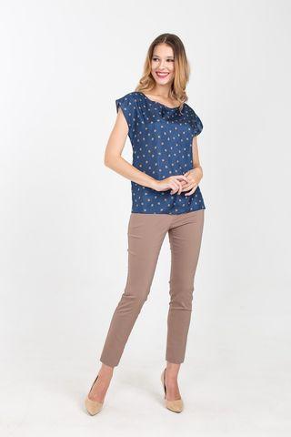 Фото зауженные брюки песочного цвета длиной до щиколотки - Брюки А478-355 (1)