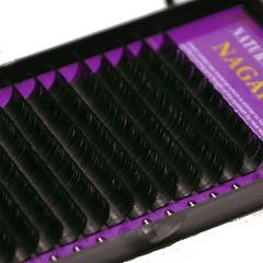 Черные ресницы Nagaraku 16 линий отдельные длины