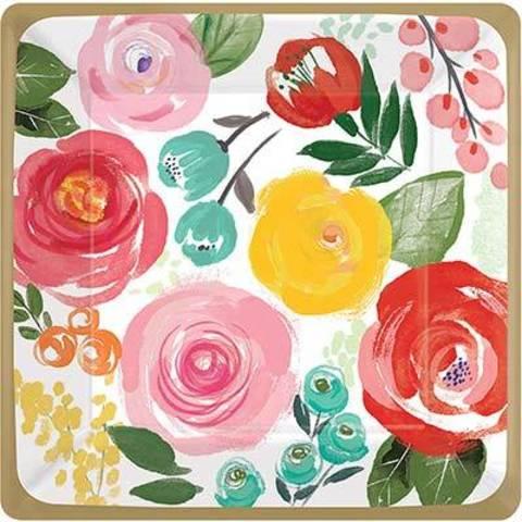 Тарелки малые Цветочный Вальс, 8 шт