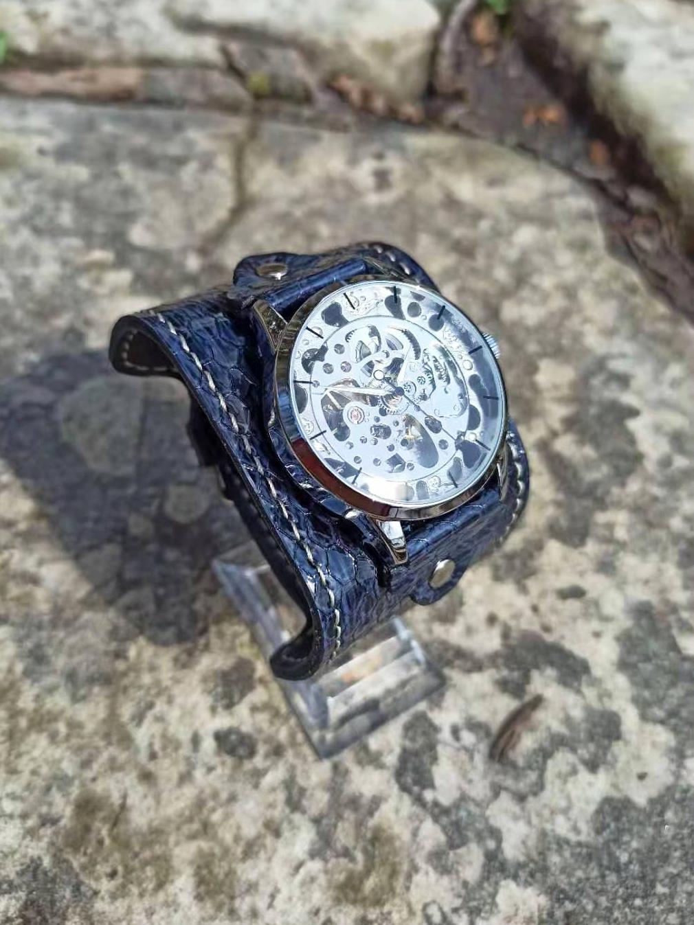 Часы скелетоны женские механические Marine YOURTIME
