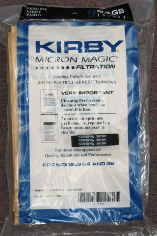 Экономь! Набор Ремень + 9 мешков  Кирби  (бумага)  99.2% - Micron Magic Disposable Filter Bags  до 2008г.