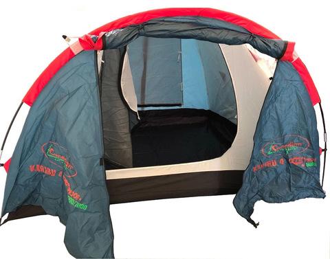 Палатка Canadian Camper KARIBU 4, цвет royal, вид внутри.