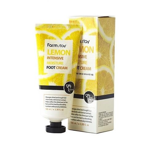 Farm Stay Lemon Intensive Moisture Foot Cream увлажняющий крем для ног с экстрактом лимона
