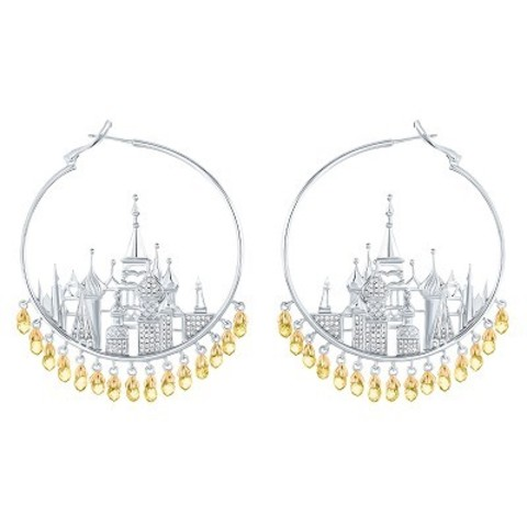 4745- Серьги St Basil Cathedral  из серебра с желтыми, каплевидными цирконами