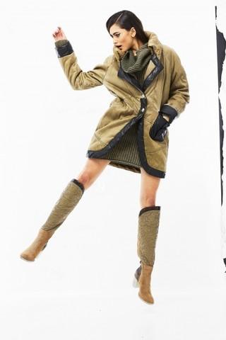 Пальто зеленое  Elisa Cavaletti арт. ELW188008200