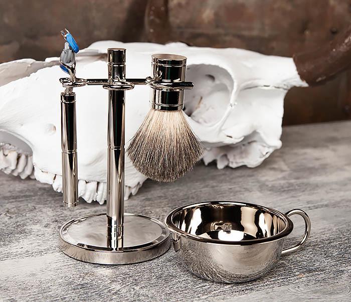 RAZ405 Набор для бритья: чаша, помазок, безопасная бритва фото 05