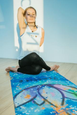 Коврик для йоги Practice из микрофибры и каучука 183*66*0,3 см