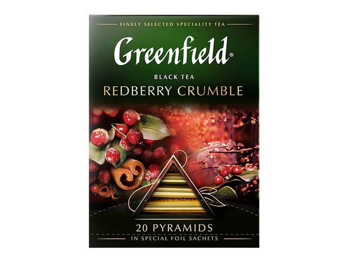 купить Чай черный в пирамидках Greenfield Redberry Crumble, 20 пак/уп