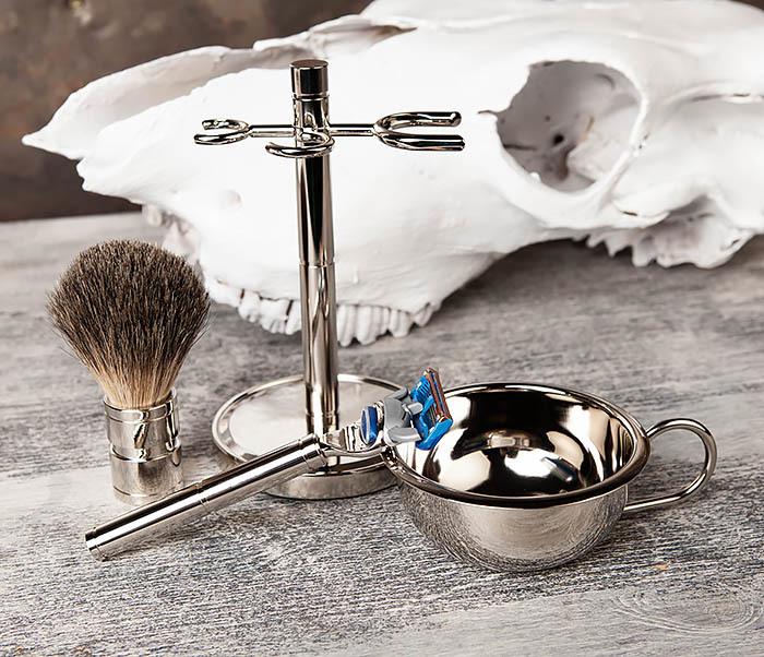 RAZ405 Набор для бритья: чаша, помазок, безопасная бритва фото 06
