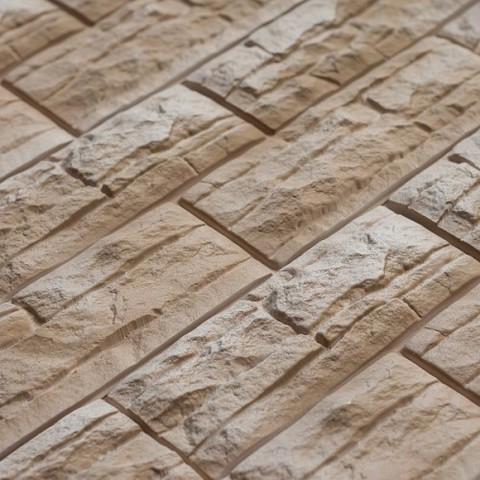 Фасадные панели (Цокольный Сайдинг) Доломит Скалистый Риф Премиум Умбра
