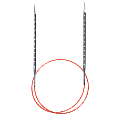 Спицы металлические круговые супергладкие с квадратным кончиком AddiNovel, №8 , 40 см.