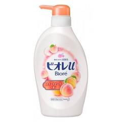 Гель для душа Kao Biore с низким ph уровнем и ароматом персика 480 мл