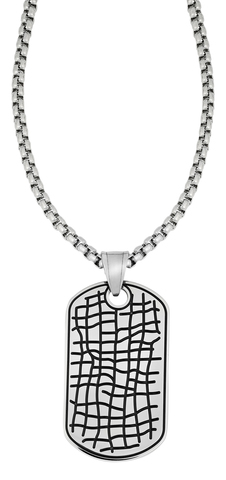 Мужской подарочный кулон-жетон с цепочкой Zippo 2006278