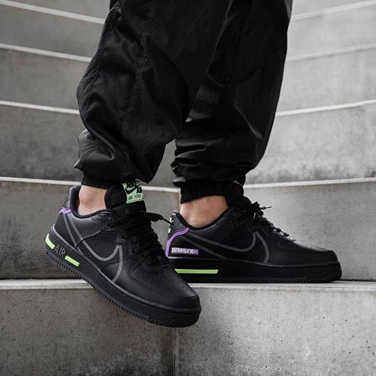 Nike Air Force 1 React Black