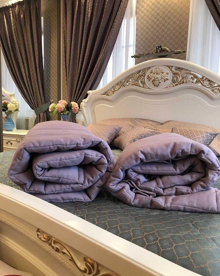 Льняное одеяло полутороспальное
