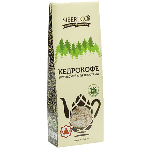 Кедрокофе Йоговский, без сахара, коробка 130 г