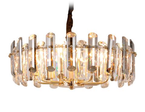 Подвесная хрустальная люстра TR5304/8 GD/CL золото/прозрачный E14/8 max 40W D500*615