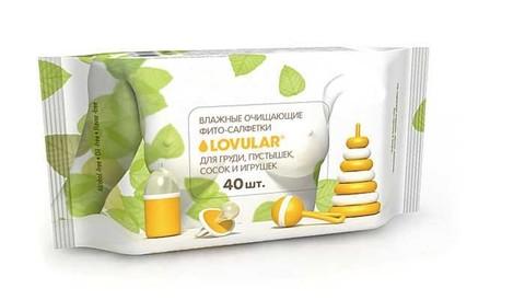 LOVULAR. Влажные фито-салфетки 40 шт. для груди