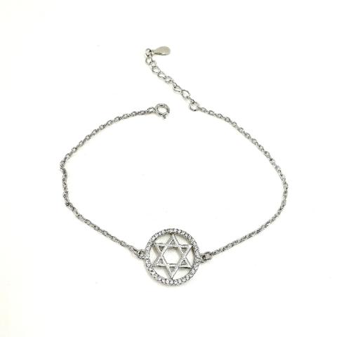 132015- Серебряный браслет с подвеской