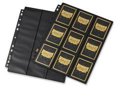 Dragon Shield - лист для альбома 18-Pocket Pages Non-Glare черный