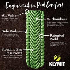 Надувной коврик Klymit Static V pad Green, зеленый - 2