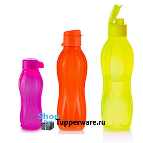 Набор неоновых Эко-бутылок (310мл/500мл/750мл)