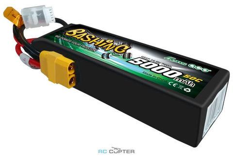 АКБ Gens ace 5000mAh 14.8V 50C 4S1P Lipo Battery Pack bashing