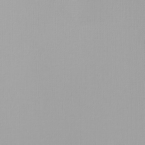 Текстурированный кардсток 30х30 American Crafts Textured Cardstock - Цвет Ash