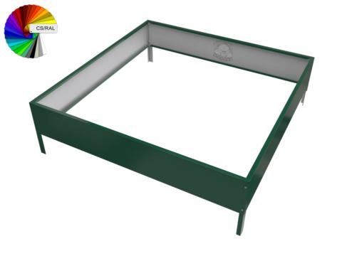Клумба квадратная оцинкованная 1 ярус с выбором цвета полимерного покрытия