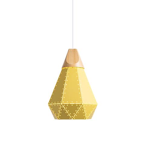 Подвесной светильник Fracture by Light Room D22 (желтый)