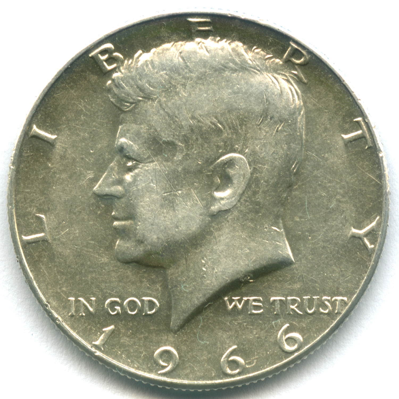 1/2 доллара 1966. США (Кеннеди). XF-AU