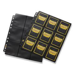 Dragon Shield - лист для альбома 18-Pocket Pages черный Glare