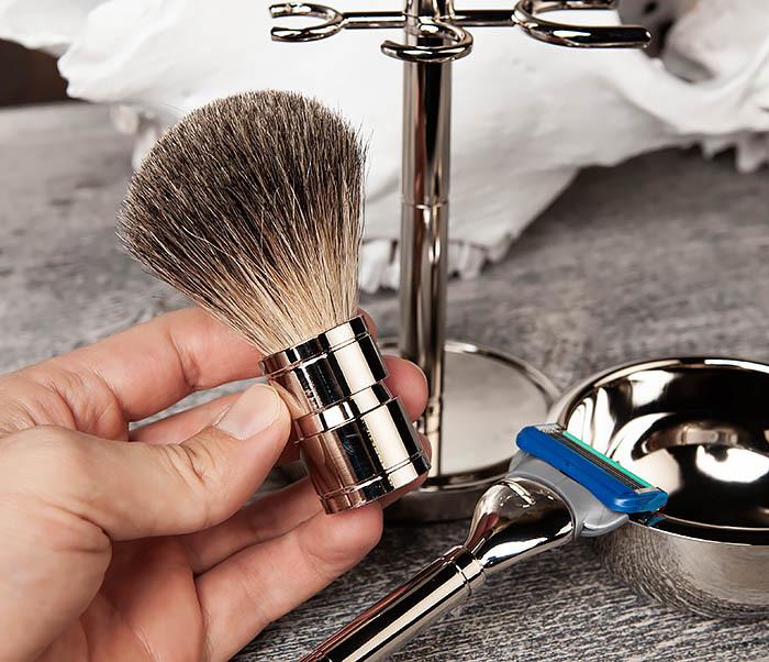 RAZ405 Набор для бритья: чаша, помазок, безопасная бритва фото 08