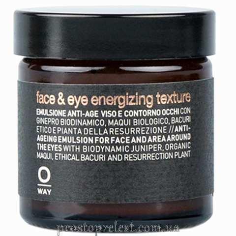 Rolland Oway Men Face & Eye Energizing Texture - Антивіковий крем для обличчя та очей