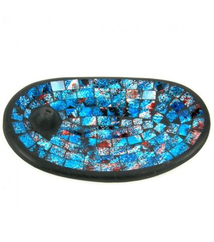 Подставка под благовония Blue, 13*21 см, керамика/стекло