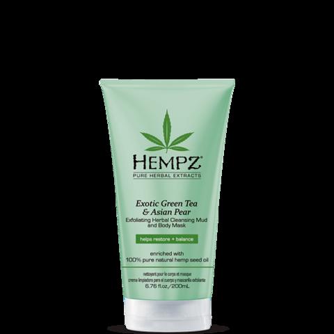 Маска-глина отшелушивающая/ Hempz Exotic Green Tea & Asian Pear Exfoliating Cleansing Mud Mask
