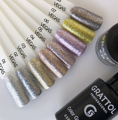 Гель-лак Grattol, Color Gel Polish Vegas 04, светлая бронза, 9 мл