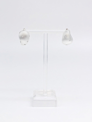 Асимметричные серьги из серебра с фианитами  оптом и в розницу