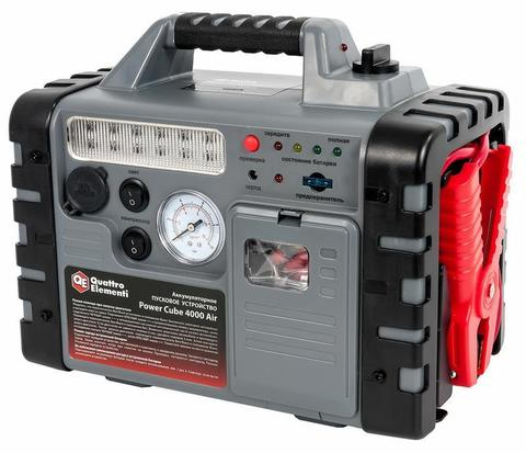 Пусковое устройство QUATTRO ELEMENTI Power Cube 4000 Air (12В, 18Ач, 400А, 9,5 кг) с компрессором (772-517)
