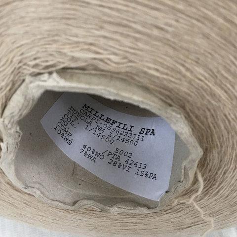 Смесовка с кашемиром (10%) и ангорой (7%) MILLEFILI NUVOLA 1/1450 песочный