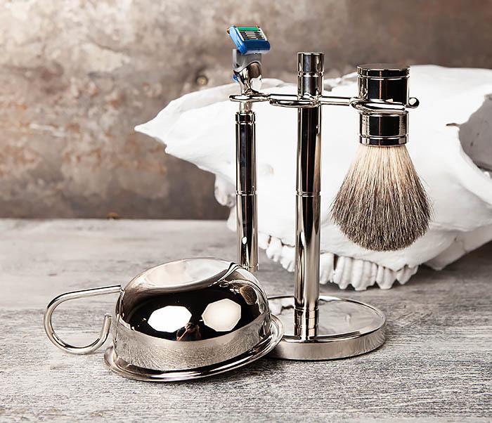 RAZ405 Набор для бритья: чаша, помазок, безопасная бритва фото 09