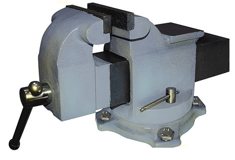Тиски слесарные 125 мм с наковальней