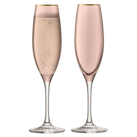 Набор из 2 бокалов флейт для шампанского Sorbet, 225 мл, коричневый
