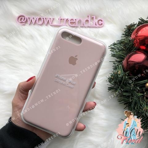 Чехол iPhone 7+/8+ Silicone Case /pink sand/ розовый песок 1:1