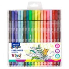 Mazari Vivo Line набор капиллярных ручек линеров 0.4 мм - 18 цветов