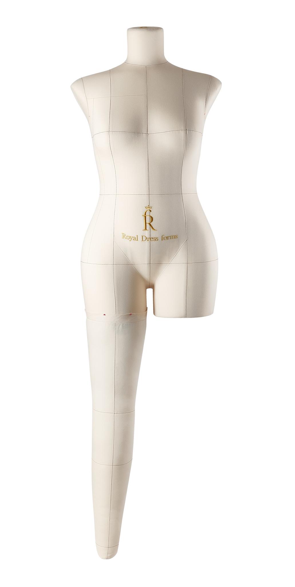 Нога бежевая для манекена Моника, размер 46
