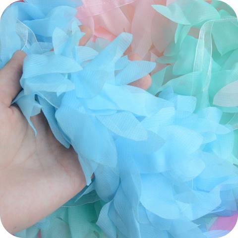 Лепестки шифоновые, цвет голубой, 45см