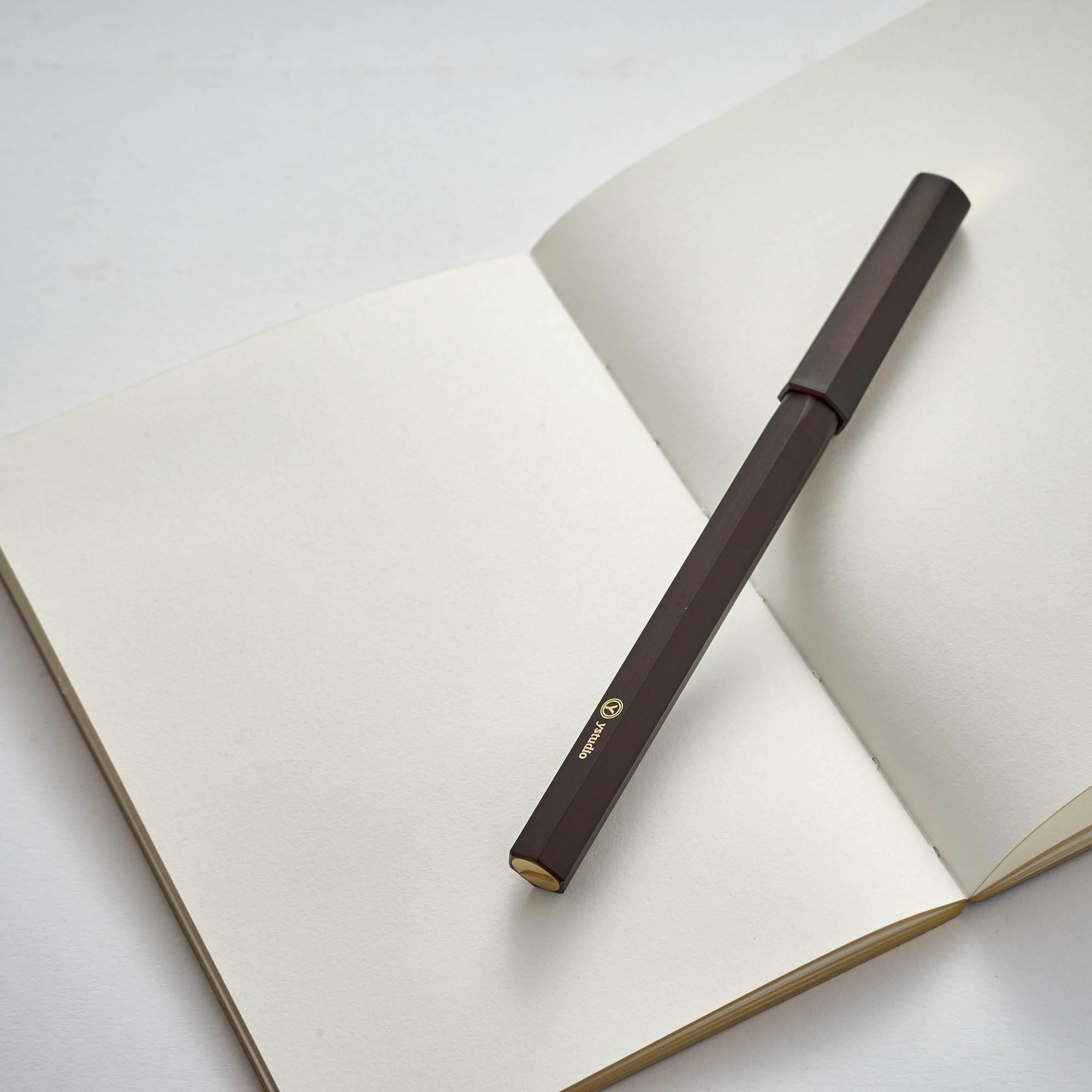 YStudio Ручка-роллер Resin Rollerball Pen Black