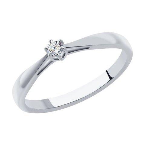 1011346 - Помолвочное кольцо из белого золота с бриллиантом