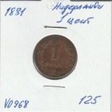 V0968 1881 Нидерланды 1 цент
